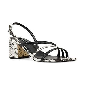 Nine West | Maeve Lizard-Embossed Strappy Sandals